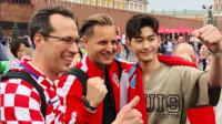 揭秘世界杯最花边 张翰俄罗斯应援克罗地亚