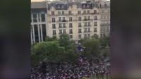 密集恐惧症慎入!高空俯拍法国庆祝游行队伍超级震撼