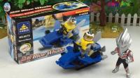 杰克奥特英雄拼益智积木 沙滩摩托艇玩具