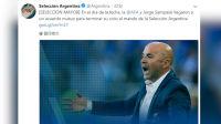 世界杯:阿根廷足协官方宣布桑保利下课
