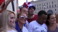 法国球迷成莫斯科主角 这一天他们是全世界最幸福的人
