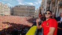 7月15日世界杯最嗨庆典:比利时众星欢庆得季军嗨歌尬舞