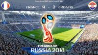 FIFA2018世界杯决赛: 法国vs克罗地亚! 法国夺得世界杯冠军!