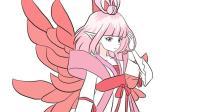 优雅美丽的小花仙儿童卡通简笔画