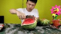 拆箱测评切西瓜神器, 16块钱一个, 大的小的西瓜都能切