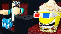 【屌德斯&小熙】 Roblox躲猫猫模拟器 在电影院变身豪华午餐兄妹爆米花和饮料!