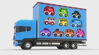 亮亮玩具汽车动画学习英语, 婴幼儿宝宝教育游戏视频1087