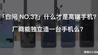 「白问 NO.37」什么才是高端手机 厂商能独立造一台手机么?