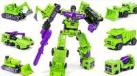 变形金刚 绿色毁灭者迷你超大战神车 组合机器人汽车玩具 【 俊和他的玩具们 】