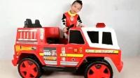 亲子丨玩具: 皮尤的新消防车, 从树上救下小猫