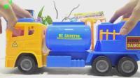 汽车巴士和工程车玩具试玩, 婴幼儿宝宝玩具游戏视频693