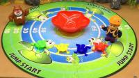光头强和熊大玩青蛙跳脑力大作战游戏