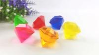手工制作彩色的滴胶钻石, 各种颜色DIY, 简单又美丽