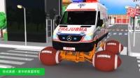 723给雷克萨斯警车救护车垃圾车更换悬架与各种球形车轮 家中的美国学校