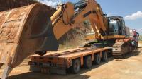 利勃海尔大型挖掘机工作视频, 转移场地, 原来是这样操作的!