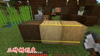 我的世界第二季31: 我收集半箱子木材建房子, 三种树剥皮对比一下