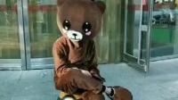 傲娇的网红熊! 隔着屏幕都能感觉到疼