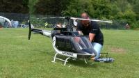巨型航模飞行表演 贝尔206 JetRanger直升机