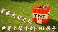 小橙子姐姐我的世界《最小的TNT房子》: 里面还能换神器!