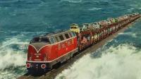 现实版的《千与千寻》铁路, 直接从水中央穿过, 不怕被淹吗?