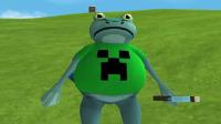 滑稽蛙:探索新大陆获得我的世界苦力怕套装和钻石稿