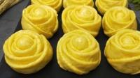 1斤南瓜, 2碗面粉, 教你做玫瑰花馒头, 好吃又好看, 做法也简单