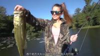 女钓友第一次长江畔钓鱼钓上五十 ...