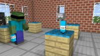 MC动画怪物学院《欢乐跳瓶》, 僵尸君表演蒙眼扔瓶子