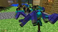 GMOD游戏100只僵尸围着小丹怎么又被20狼狗包围