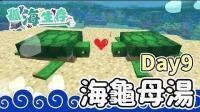 【鬼鬼】我的世界「孤海生存」Day9: 海龟你们这样母汤