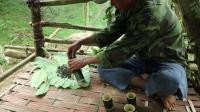 荒野生存 野外求生 原始技能 生存哥 野外 石板 上制作 茶叶
