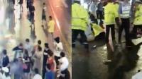 上海一商店招牌脱落致3死6伤 监控视频曝光