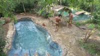 澳洲小哥  荒野求生 野外生存  生存哥  建造游泳池