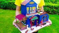DIY微型娃娃豪华房子, 迷你物件太有创意了