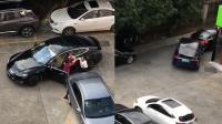 俩特斯拉女司机任性互怼 上演豪车碰碰撞