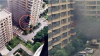 河南郑州一小区突发天然气爆炸事故黑烟弥漫