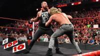【RAW 08/13】十大精彩瞬间 隆达罗西单挑4名壮汉 汀安布罗斯霸气回归