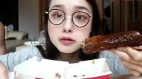 上海吃播, 吃周黑鸭鸭头鸭翅咸柠七和薯格, 真有食欲