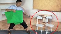 为什么魔术师用布一挡  凳子上瞬间变出两个人?