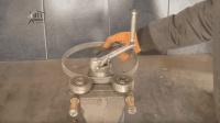 牛人用一个钢圈自制钢管折弯机, 你不要说还挺好用的!