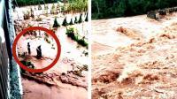 群众洪水中营救老人 2名救人者被卷走失踪