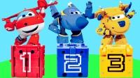 超级飞侠益智玩具数字变形方块