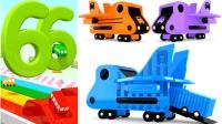 小巴士泰路数字闯关儿童英语ABC汽车玩具少儿英语ABC切水果游戏英语儿歌ABC