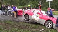 遇到下雨路滑,这么多职业车手也失误,我们平常开车一定小心