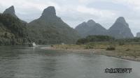 无人机航拍广西漓江, 无意中还拍到一群鸭子