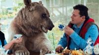 性情凶猛的棕熊, 到了俄罗斯却被当狗养, 靠卖萌才能生活!