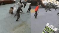 """男子""""发疯""""街头随机殴打老人 路人出手将其制服"""