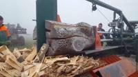 外国劈柴神器, 多粗的木头都能劈开, 网友: 没有灵魂!