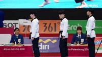2018雅加达亚运会男子跆拳道品势团体决赛中国VS韩国