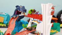 风火轮鲨鱼便携轨道赛车玩具分享
